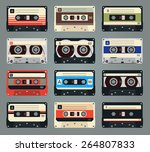 Set Of Vector Retro Audio...