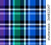 blue tartan seamless background | Shutterstock . vector #264812147