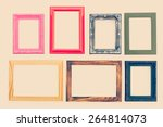 frame process in vintage style... | Shutterstock . vector #264814073