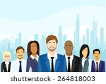 business people group diverse... | Shutterstock .eps vector #264818003