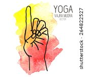 hand in yoga mudra on... | Shutterstock .eps vector #264822527