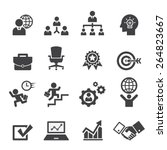 business icon set | Shutterstock vector #264823667