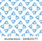 geometric blue watercolor... | Shutterstock .eps vector #264824177