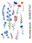 watercolor flowers | Shutterstock . vector #264825767
