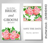 wedding invitation cards with... | Shutterstock .eps vector #264840443