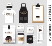 vector restaurant cafe set... | Shutterstock .eps vector #264846893