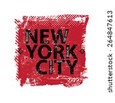 vintage new york city logo shirt | Shutterstock .eps vector #264847613