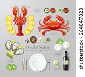 infographic food business... | Shutterstock .eps vector #264847823
