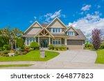 big custom made luxury house...   Shutterstock . vector #264877823