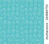 valentine's day line icon... | Shutterstock .eps vector #264884753