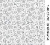 office line icon pattern set | Shutterstock .eps vector #264884843