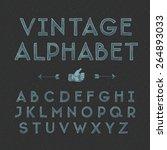 vintage alphabet  vector... | Shutterstock .eps vector #264893033