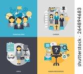 human resources design concept... | Shutterstock .eps vector #264894683