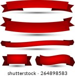 set of red banners and ribbons. ... | Shutterstock .eps vector #264898583