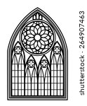 window for churches and... | Shutterstock .eps vector #264907463