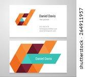 modern letter d business card...   Shutterstock .eps vector #264911957