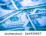 money background   us dollars... | Shutterstock . vector #264939857