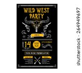 invitation wild west party... | Shutterstock .eps vector #264949697