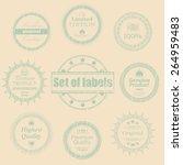 retro labels set. retro vintage ... | Shutterstock .eps vector #264959483