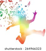 colorful abstract illustration... | Shutterstock . vector #264966323