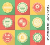 collection of summer stamps.... | Shutterstock .eps vector #264973457