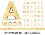 wooden alphabet blocks with...   Shutterstock .eps vector #264980603