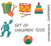set of different children toys | Shutterstock .eps vector #264990893