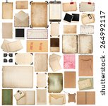 aged paper sheets  books  pages ... | Shutterstock . vector #264992117