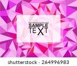 pink geometric texture | Shutterstock .eps vector #264996983