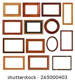 vintage frames set  vector. | Shutterstock .eps vector #265000403
