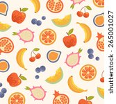 fruit pattern | Shutterstock . vector #265001027