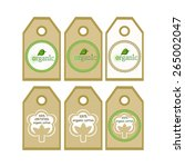 organic cotton labels 100... | Shutterstock .eps vector #265002047