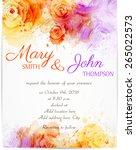 wedding invitation template... | Shutterstock .eps vector #265022573