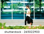 cropped view of business woman... | Shutterstock . vector #265022903