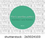 seamless pattern with the image ... | Shutterstock .eps vector #265024103