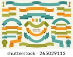 vector collection of decorative ... | Shutterstock .eps vector #265029113