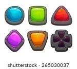 set of cartoon colorful stones  ...