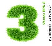 digit symbol 3 of grass... | Shutterstock .eps vector #265035827