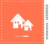 home icon | Shutterstock .eps vector #265040333