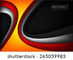 orange vector background curve... | Shutterstock .eps vector #265059983