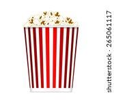 popcorn bucket | Shutterstock .eps vector #265061117