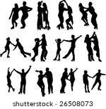 ice skaters couple silhouette | Shutterstock .eps vector #26508073