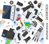 easy to edit vector... | Shutterstock .eps vector #265087823