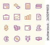 finance web icons set | Shutterstock .eps vector #265099853
