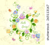 spring illustration with... | Shutterstock .eps vector #265113167