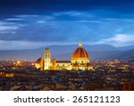 after sunset view of cathedral  ... | Shutterstock . vector #265121123