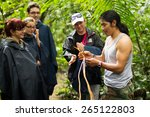 naturalist local guide with... | Shutterstock . vector #265122803