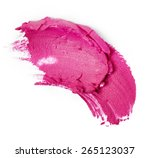 Smudged Lipstick Isolated On...