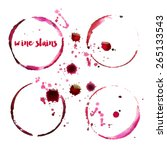 wine stains | Shutterstock .eps vector #265133543