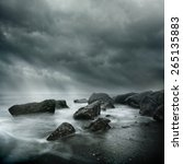 Sea Storm Long Exposure On A...